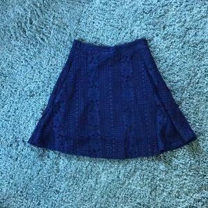 Blue Lace Skater Skirt